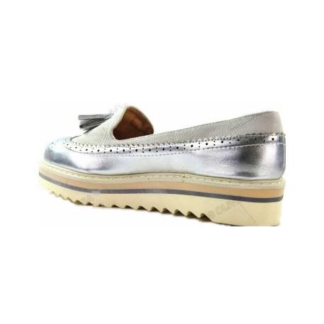 Y Planos Cuña Modelo Plata Zapatos 1 Gris Mujer AHTqxXng
