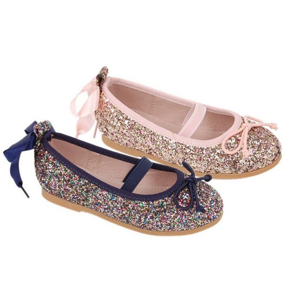 30db709f14b Comprar Bailarinas niña baratas azul marino glitter Alegría