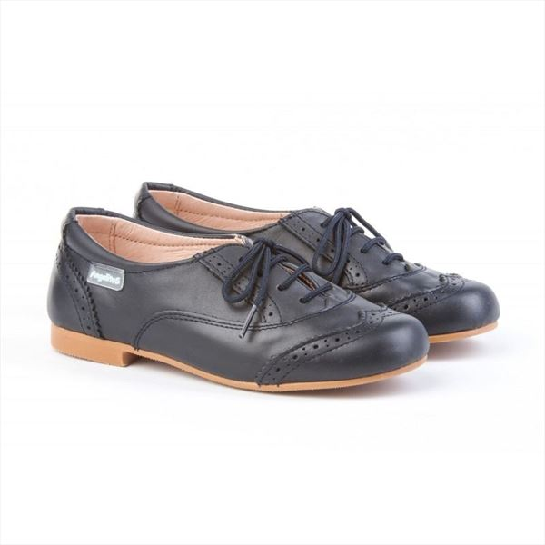 Blucher Niña Azul Marino Oxford Marca Angelitos (3)