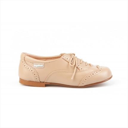 Comprar Blucher Niña Camel Oxford Marca Angelitos🥇