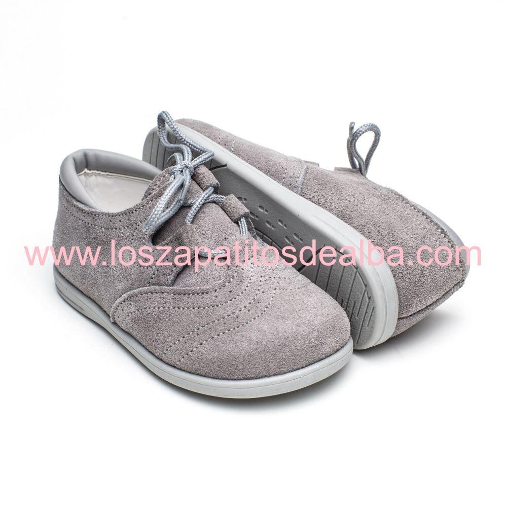 b76ec2225be ... Zapatos Inglesitos Gris Serraje Modelo Bruno (1) ...