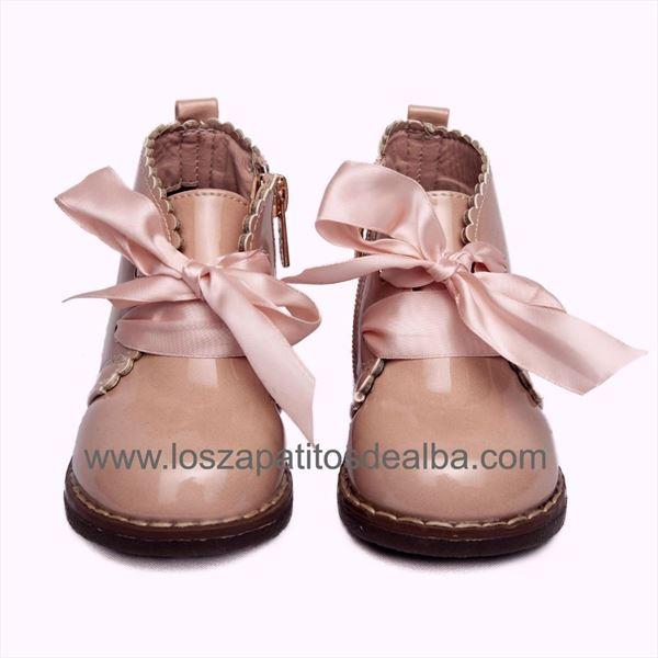 producto caliente materiales de alta calidad garantía de alta calidad Botas Niña Rosa Charol Modelo Zara
