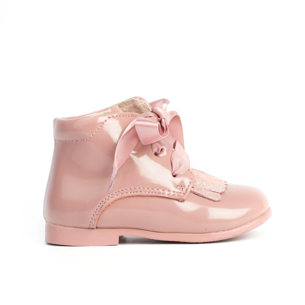 02e84c492 Botas niña rosa charol modelo texas baratas