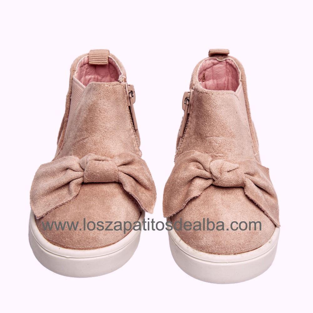 4432ec2f758 ... Botas Niña Rosa Modelo Lazo Casual (3) ...