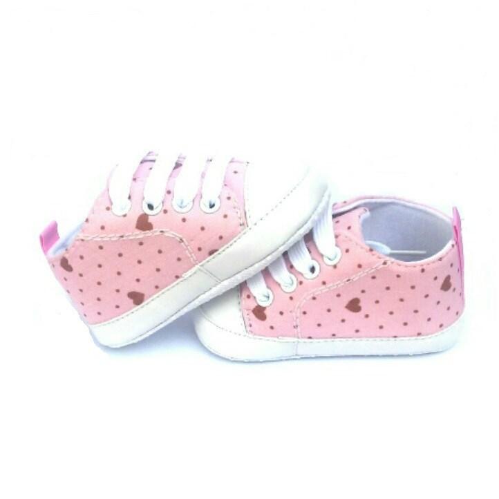 61cb74b98 Zapatillas Deportivas bebé niña rosa corazones ...