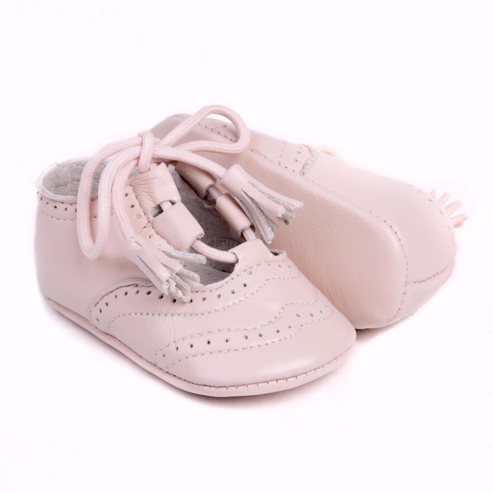 Zapato Inglesito para bebé en piel de 1ª Calidad mod.1348 (16, Beige)