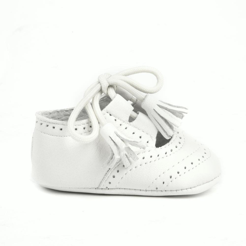 Chaussures En Cuir Pour Bébé Inglesito 1ère Qualité Mod.1348 (18, Beige)