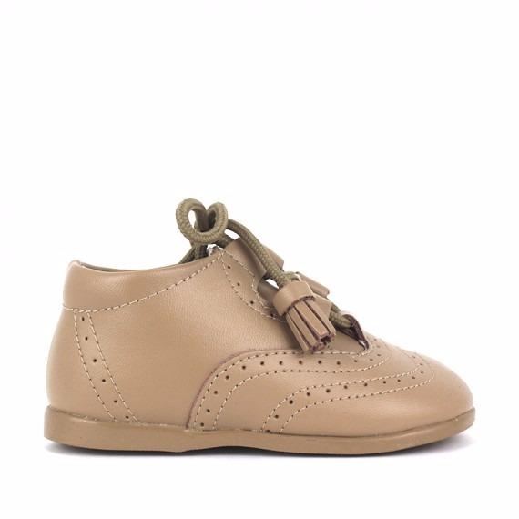 b86a1b7ef130a Comprar Zapato Inglesito Primeros Pasos Bebé piel camel flecos