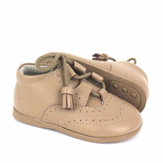 8c87e898a15f9 Comprar Zapato Inglesito Primeros Pasos Bebé piel camel flecos