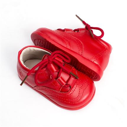 3c3f5977d ... Zapatos bebé Inglesito Primeros Pasos Piel Rojo baratos