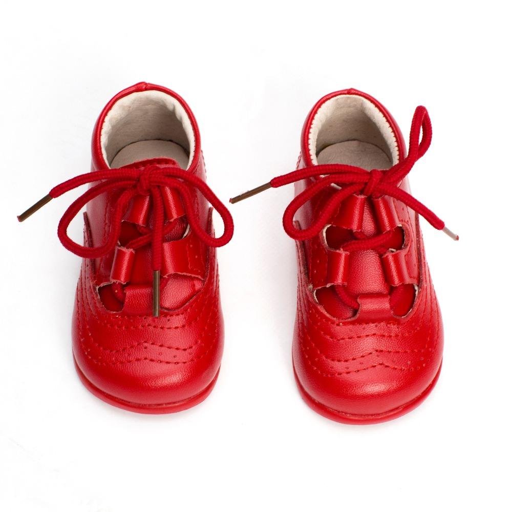 9cf562c1f5a Zapatos bebé Inglesito Primeros Pasos Piel Rojo baratos