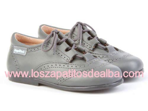 Zapatos Inglesitos Gris  Marca Angelitos (3)