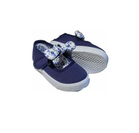 35fa0740083 Comprar Merceditas lona niña baratas marino lazo floral