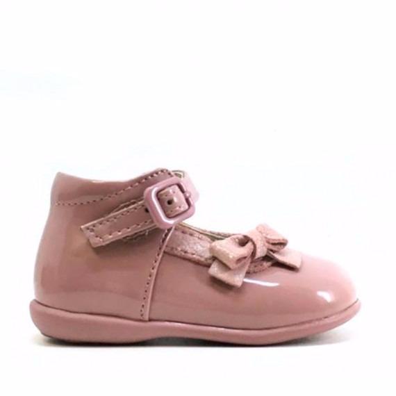 3d3df651 Merceditas bebe rosa empolvado charol lacito baratas