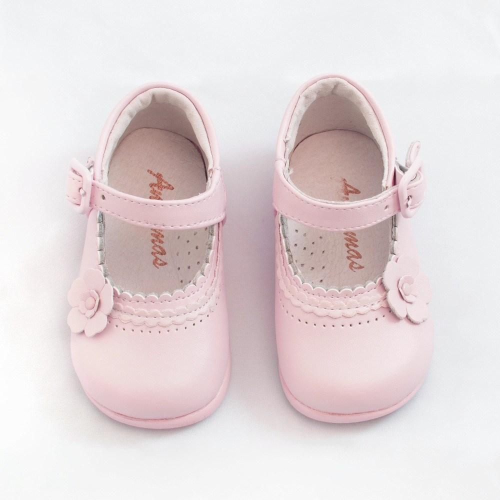 ff1647c0 ... Merceditas bebé niña primeros pasos rosa modelo Flor (4)