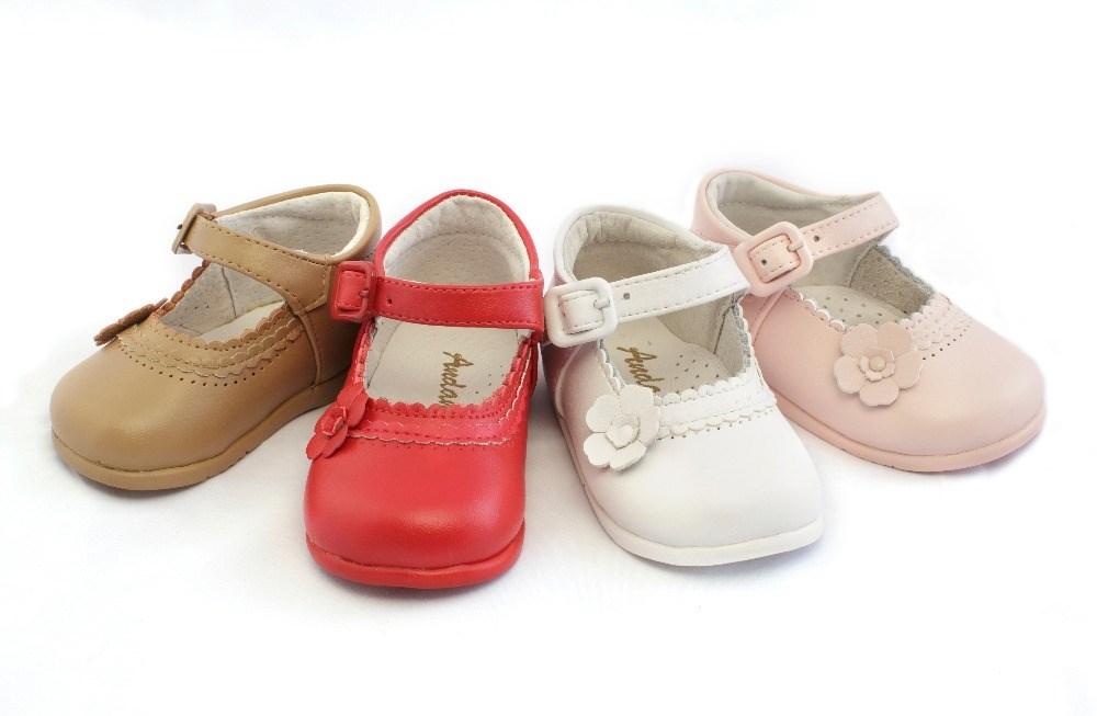 54f93c4ea6382 ... Merceditas bebé niña primeros pasos rosa modelo Flor (2) ...