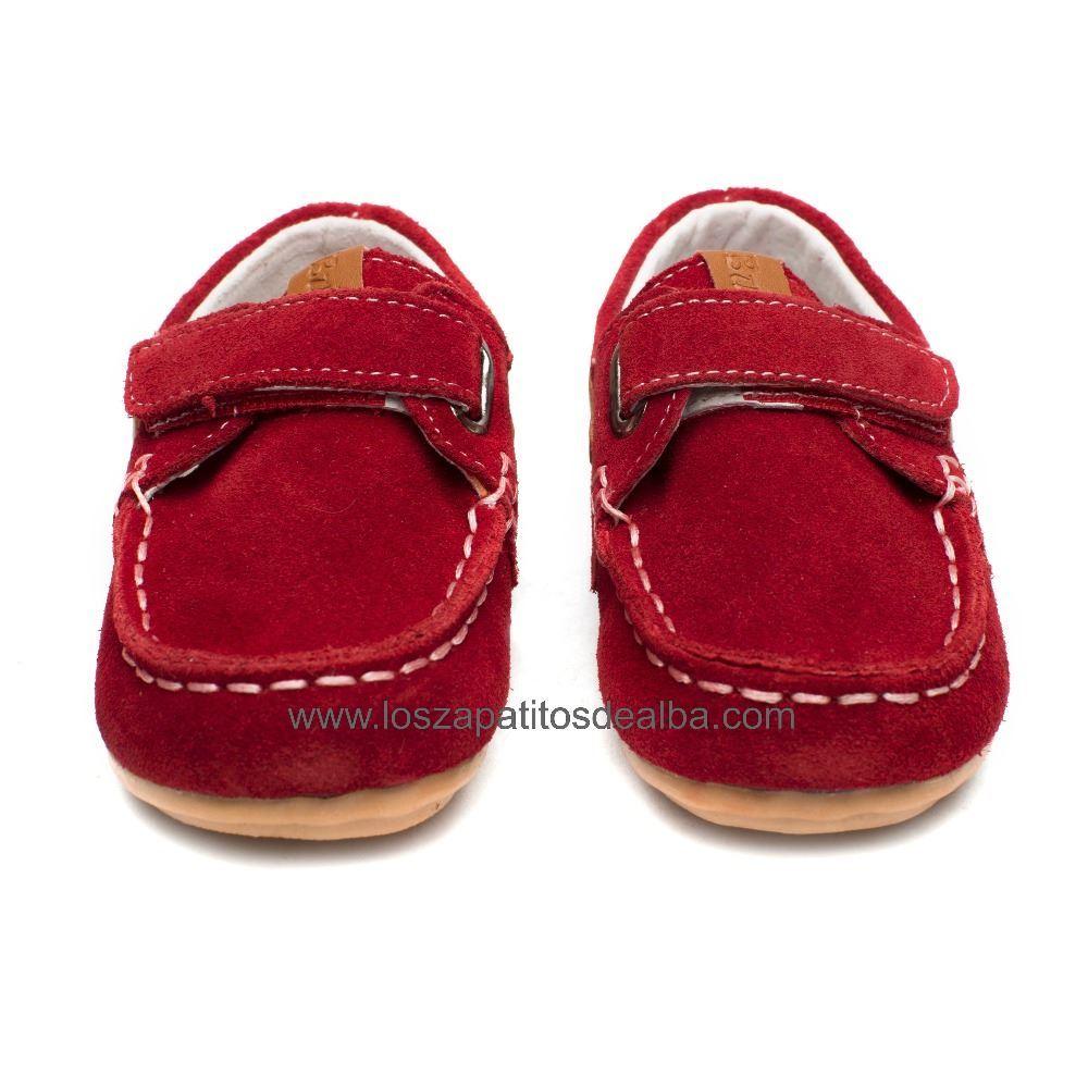 73998d92ec9 ... Náuticos Niño rojo modelo velcro (2) ...