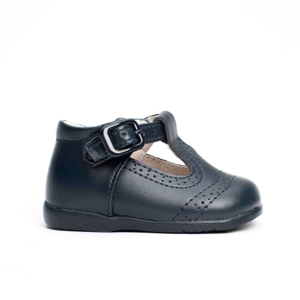 723bad32 Zapatos Bebé Pepito para Primeros Pasos azul marino troquelado ...