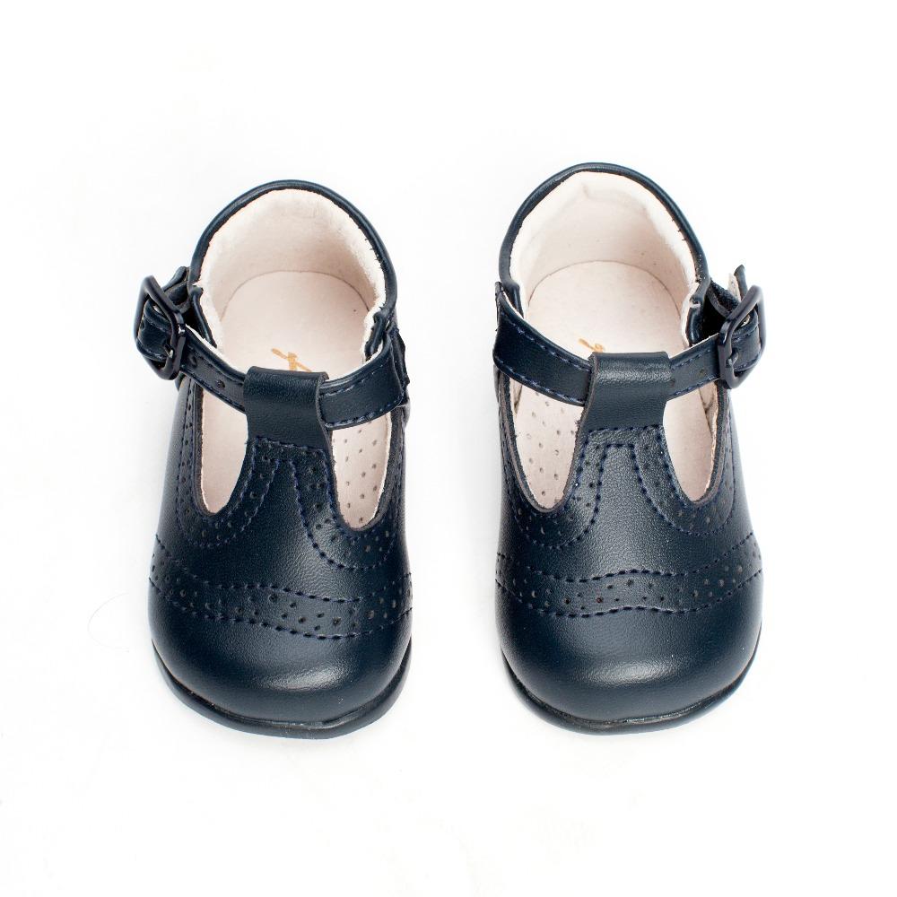 236a6f3f3 ... Zapatos Bebé Pepito para Primeros Pasos azul marino troquelado (1) ...
