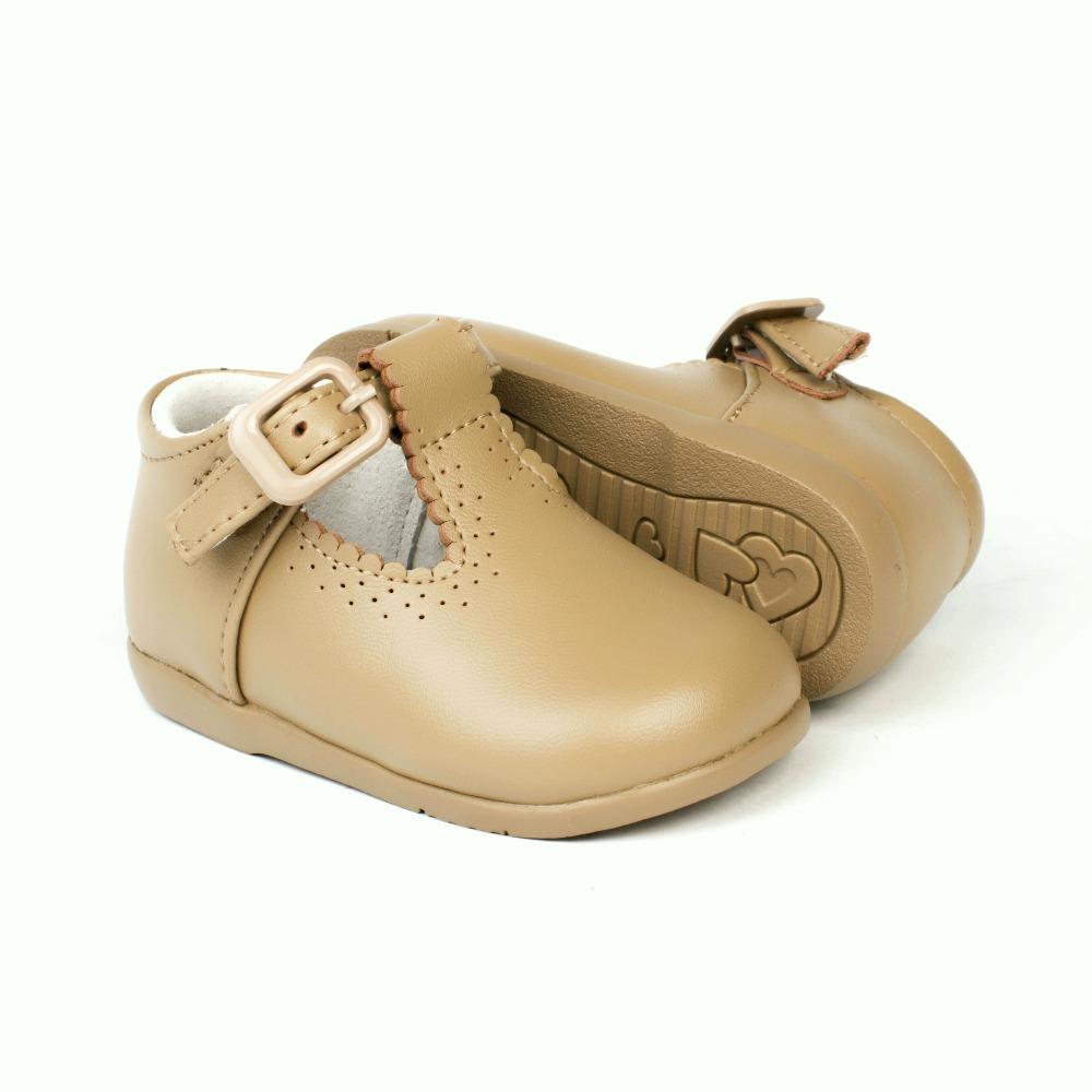 35a32514e ... Zapatos Primeros Pasos Bebé Pepito Camel Piel (1) ...