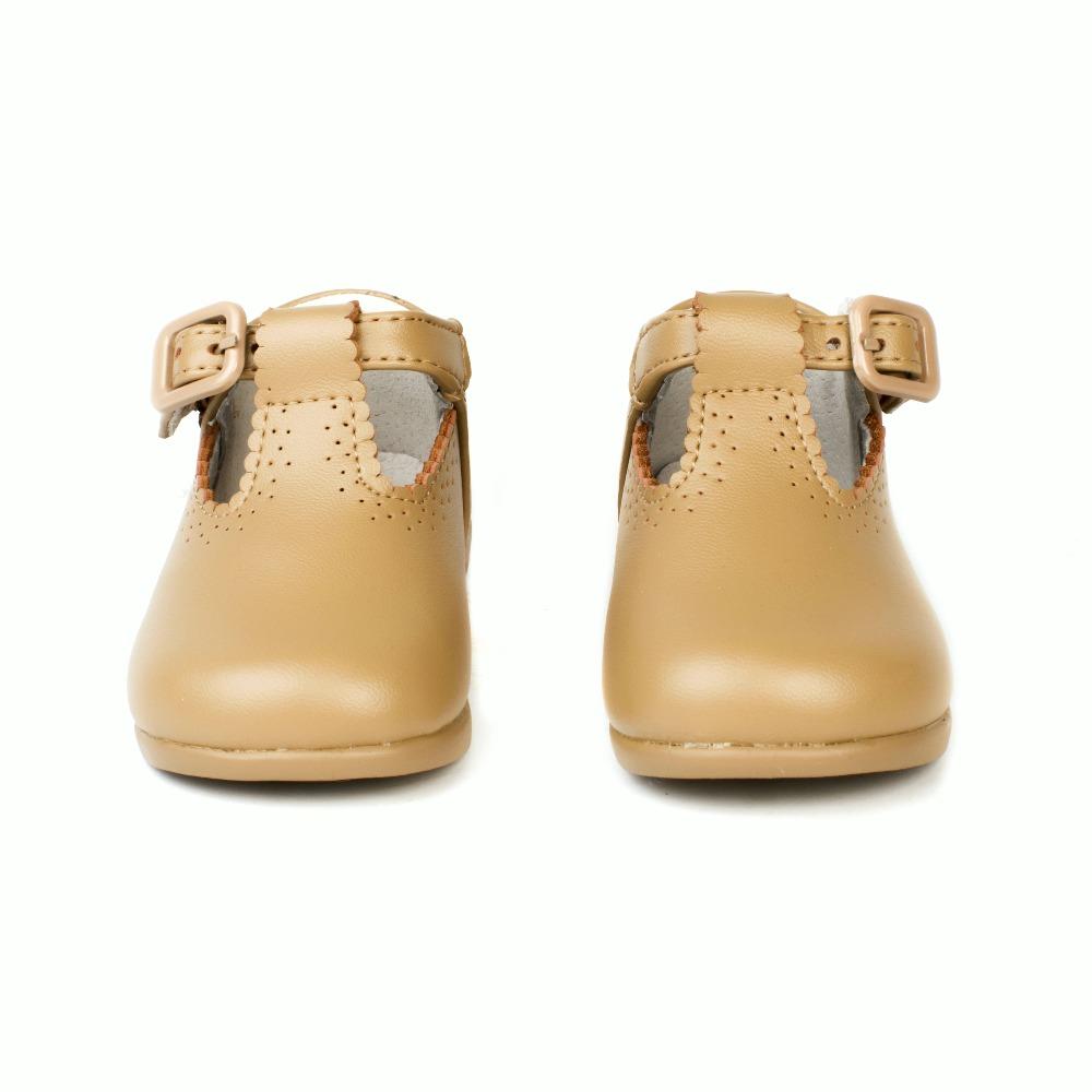 99a14e46d Zapatos Primeros Pasos Bebé Pepito Camel Piel baratos