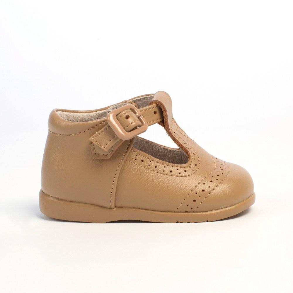 297cb55e Comprar Zapatos bebé niño Pepito Camel Troquelado Inglés