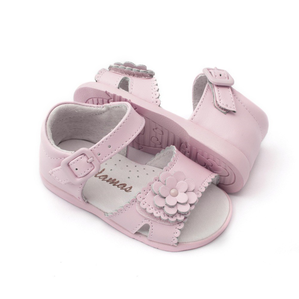 Sandalias bebé niña rosa modelo Lola