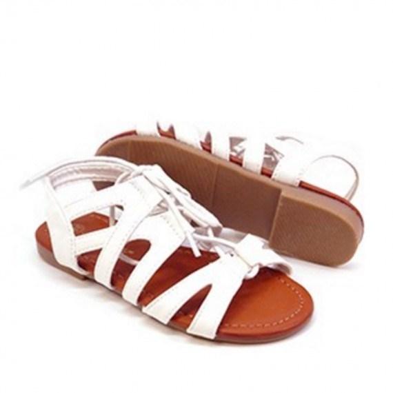 2e929128a Sandalias para niñas baratas. Sandalias niñas plata al estilo romana ...