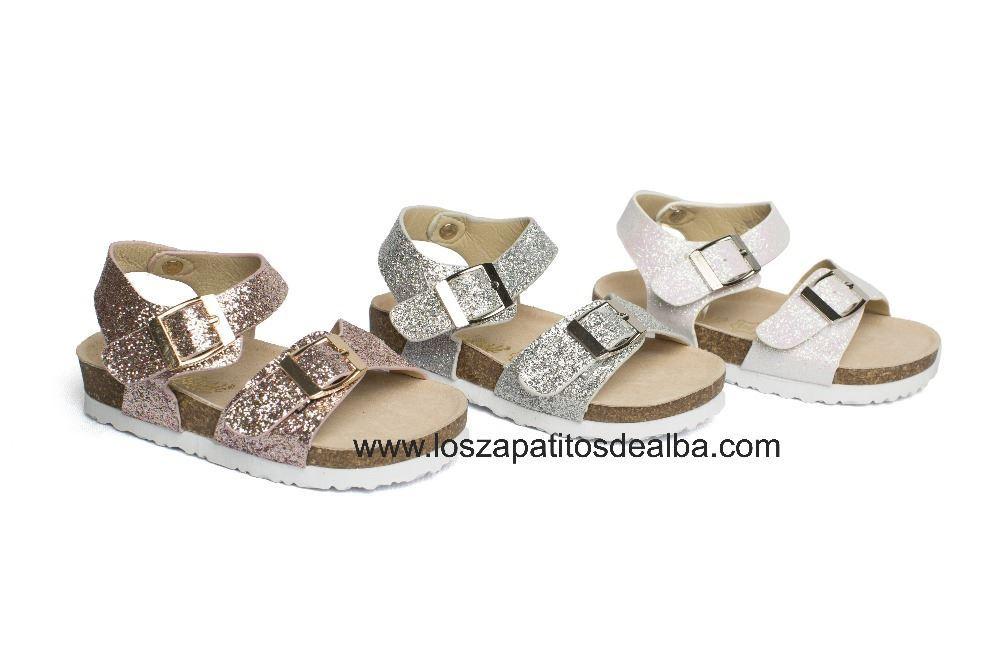 Alba Sandalias Niña Rosa Glitter Baratas Hebilla zapatitos De xBoderC
