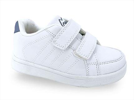 Zapatillas de Deporte de Primavera para ni/ños Zapatillas de Deporte para Correr ni/ños Zapatillas c/ómodas y c/ómodos con Velcro Blancas y Negras