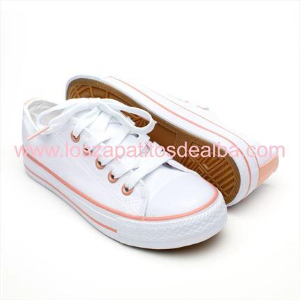 zapatillas tipo converse niña blancas