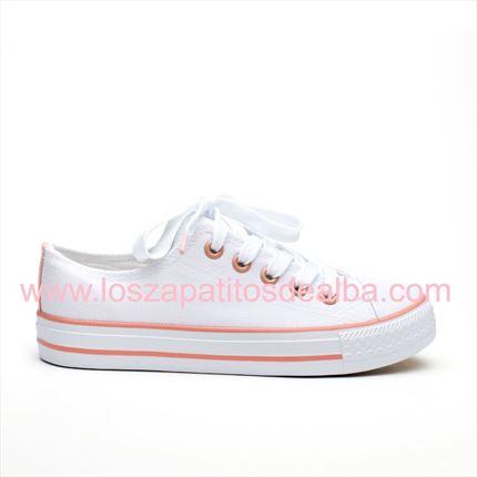2e05c331 Comprar Zapatillas lona blanca Nude estilo converse muy  baratas|baratas|zapatitos de alba ...