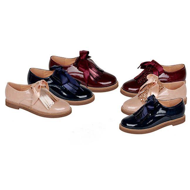c2f00f7ad ... Zapato Blucher Niña Marino Modelo Charol Inglés (5)