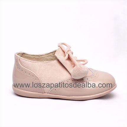 7bbd2ccb8b9 Comprar Zapato Bebé Niña Rosa Blucher Pompones baratos