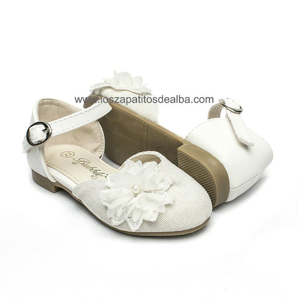 0c91e55b819 ... Zapatos ceremonia niña blanco modelo Margarita (1) ...