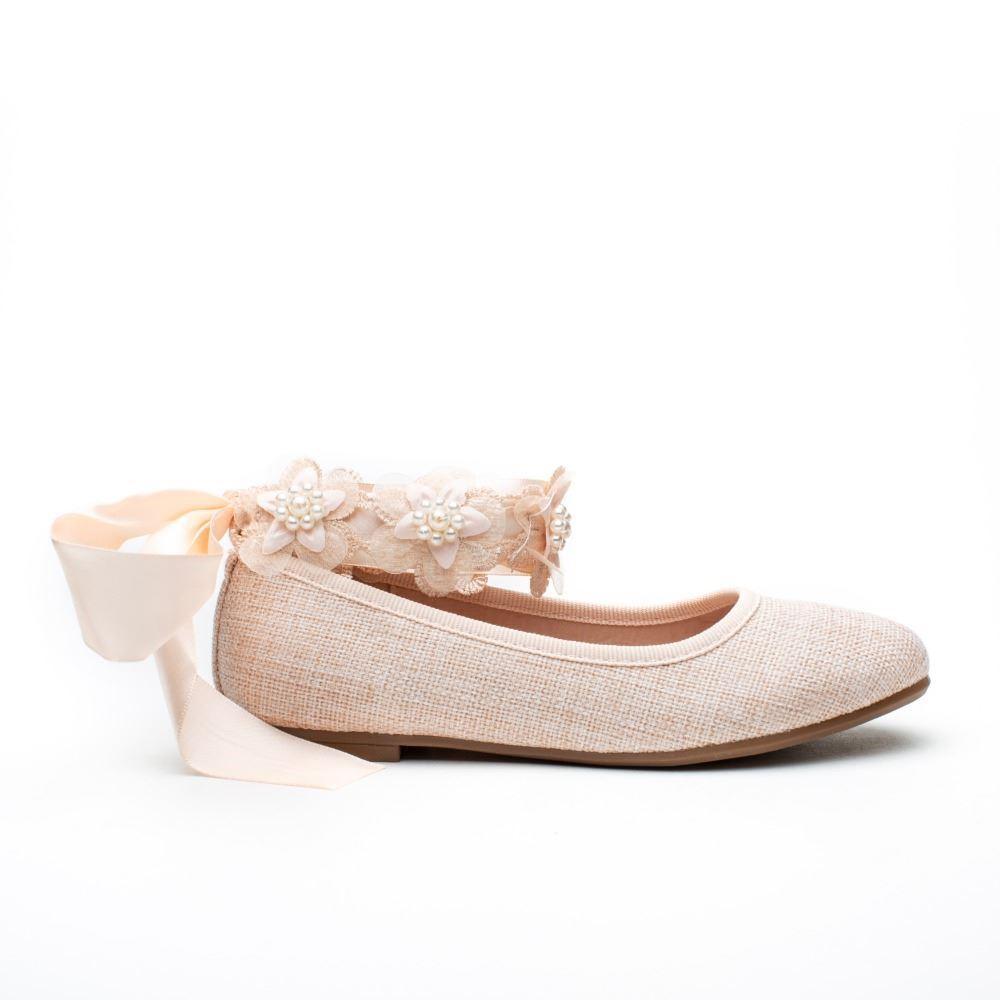 5a57c3940 Comprar Merceditas niña Ceremonia Nude. Zapato Comunión Baratos ...
