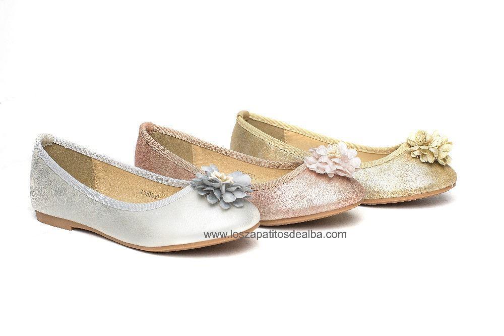 87975ef316533 Zapatos ceremonia niña rosa claro modelo Silvestre baratas