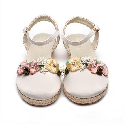 Zapatos Comunion Beige Alpargatas Campera