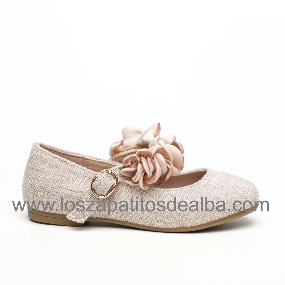 3bd9f673663 Zapatos Comunión Niña Rosa Modelo Tiara ...