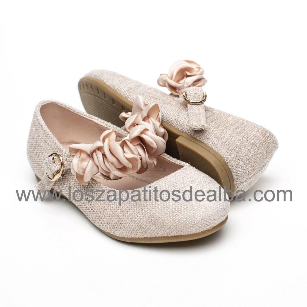 fb75eadfab6 ... Zapatos Comunión Niña Rosa Modelo Tiara (1) ...