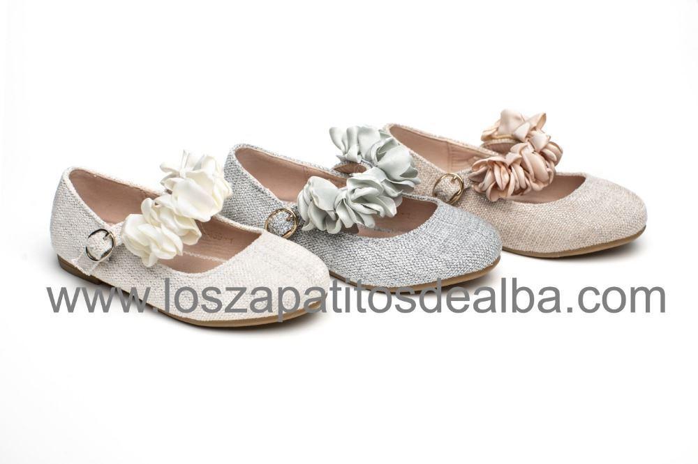 8df54b31415 ... Zapatos Comunión Niña Rosa Modelo Tiara (2) ...