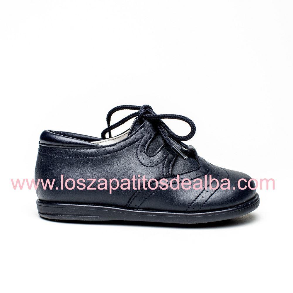 61dbc13293ccd Zapatos Inglesitos Azul Marino Piel Modelo Bruno ...
