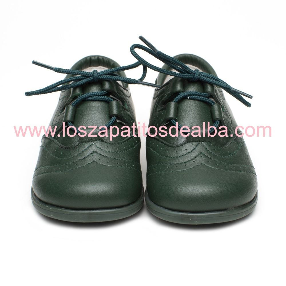 c2f49f1b7 ... Zapatos Inglesitos Niño Verde Botella Piel Modelo Bruno (2)