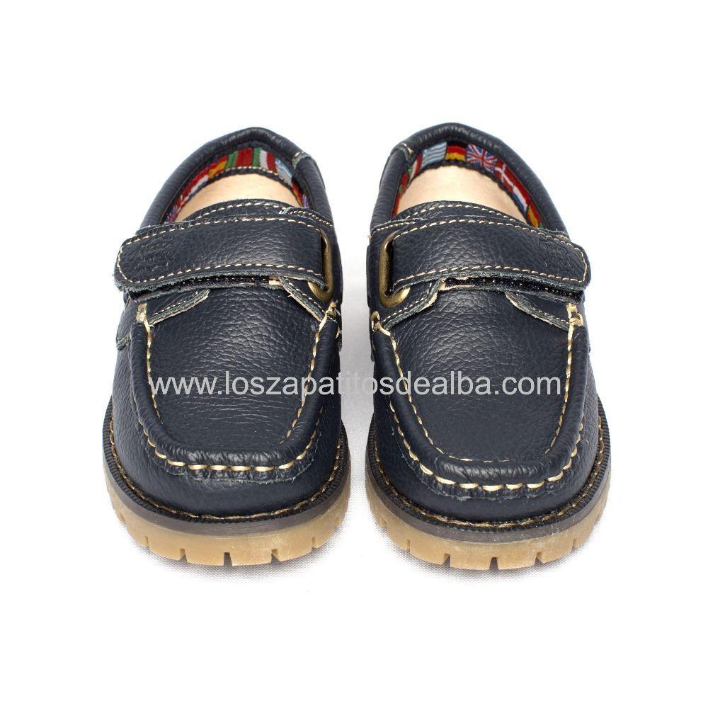 e6a39edad10 Zapatos Náuticos NIño Azul Marino piel baratos