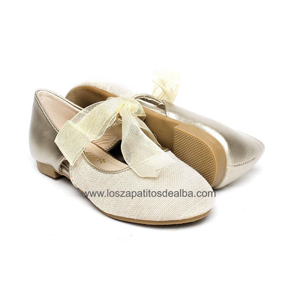 a633168aa0c ... Zapatos niña ceremonia beige modelo Clara (1) ...