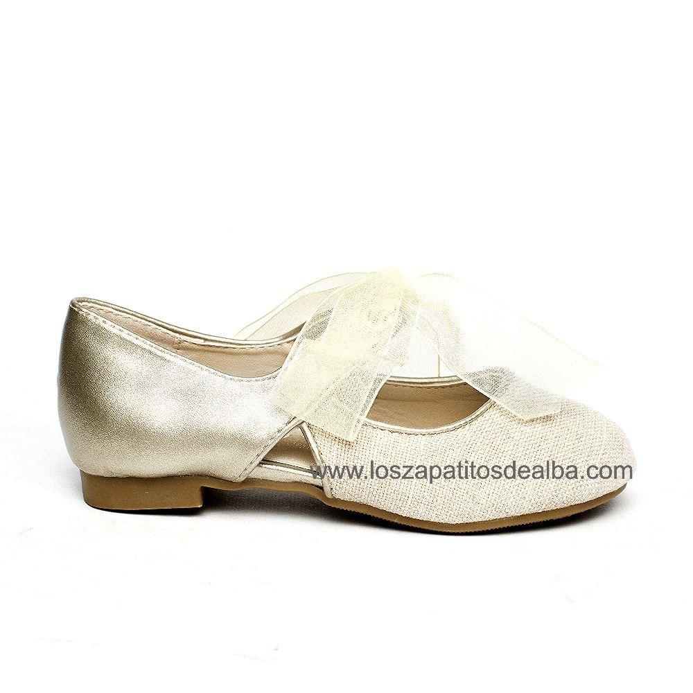 b6cb871196b Zapatos niña ceremonia beige modelo Clara baratos