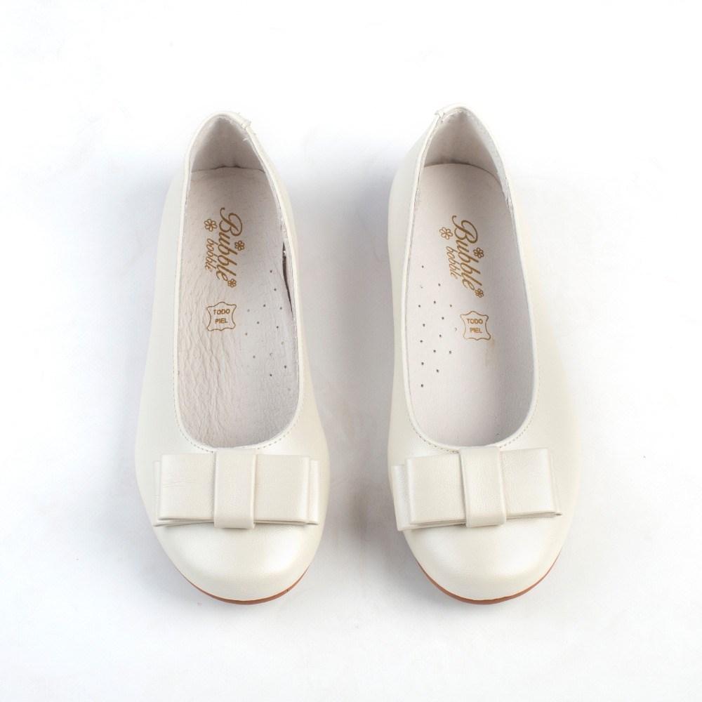 Zapatos niña comunión baratos color beige al estilo bailarinas