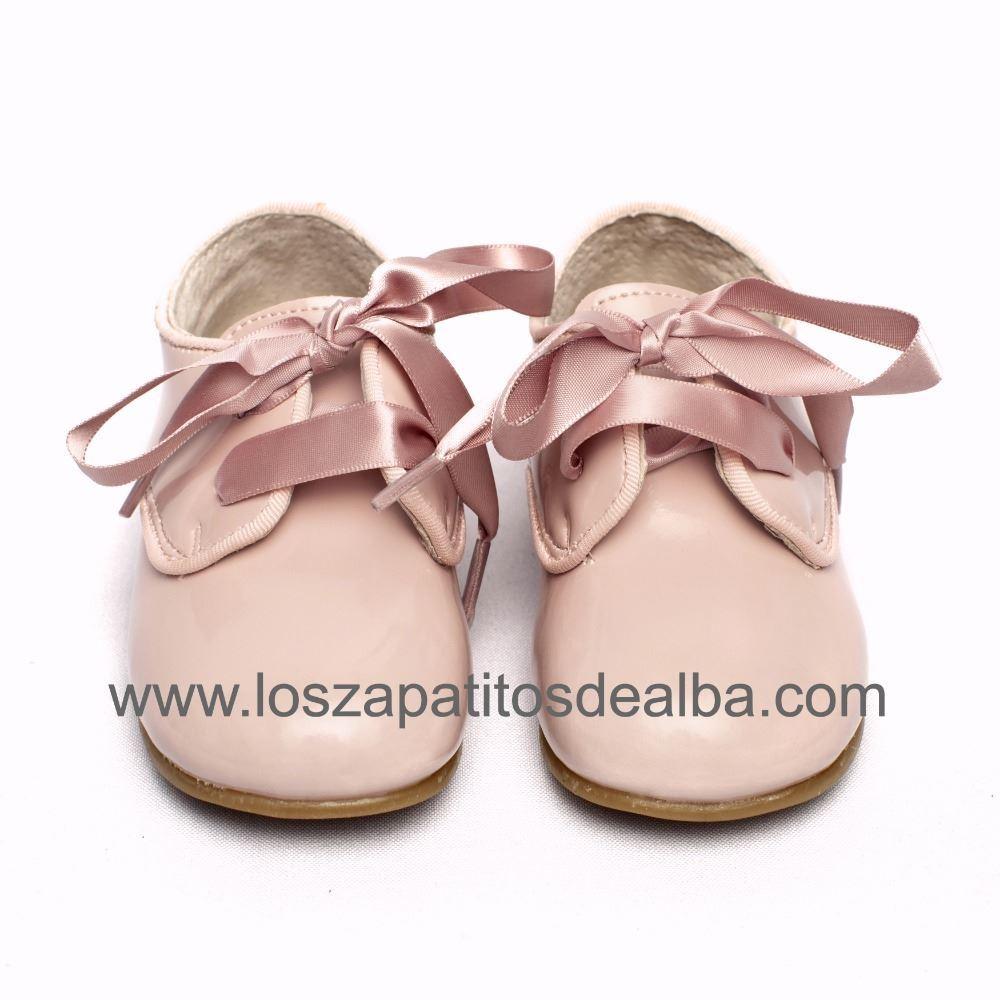 Zapatos Niña Rosa Charol Blucher Lazada