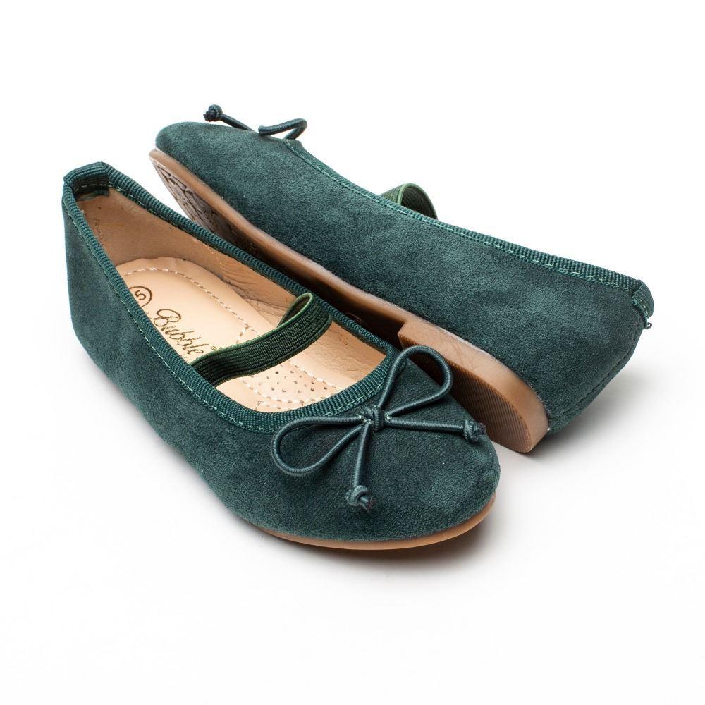 Zapatos Niña Verde Bailarinas