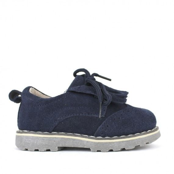 d693ac54e4c Zapatos Niño Azul Marino Modelo Lengüeta ...